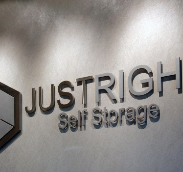 Just Right Self Storage, Ottawa, reception signage