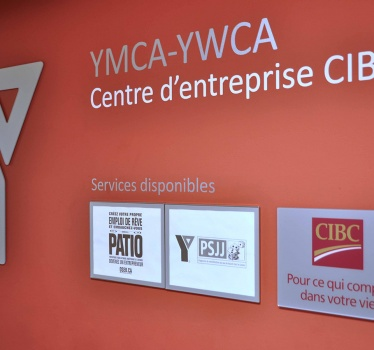 YMCA-YWCA 180 Argyle, Ottawa, general signage