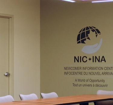 YMCA-YWCA Newcomer Information Centre, Ottawa, boardroom signage