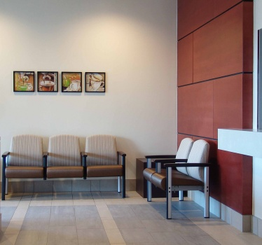 Royal Ottawa Hospital, reception area reconfiguration