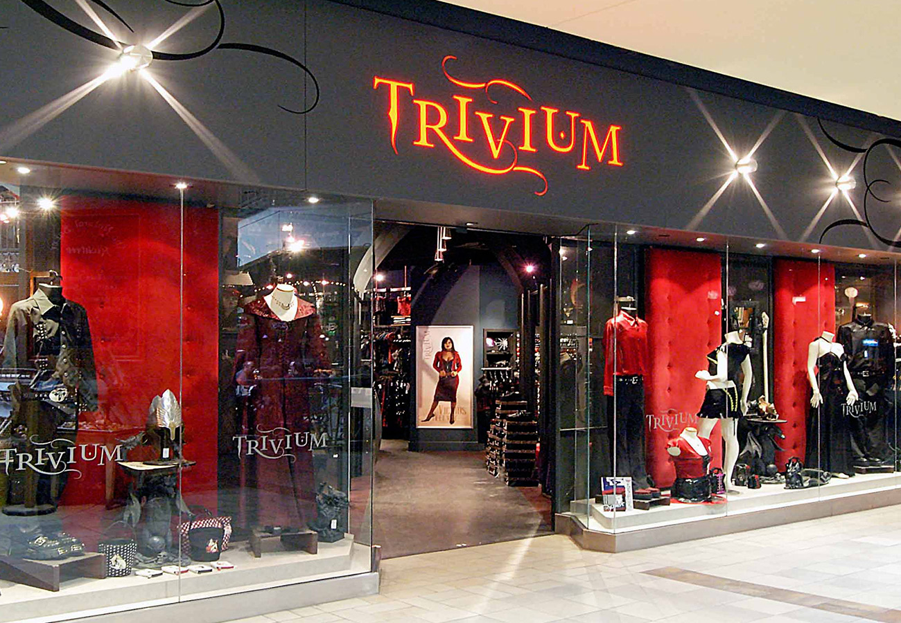 Trivium Gothic and Fetish store Rideau Centre Ottawa Tim Davis